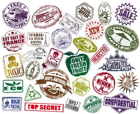 stamp: El vector de imagen Mega Conjunto De Sello Vectores