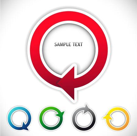 원 안에 색깔 된 화살표의 집합의 벡터 이미지 스톡 콘텐츠 - 38890984