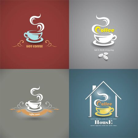 savor: The vector image of Set of sketches for the coffee menu Illustration