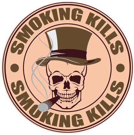 smoking kills: The vector image of SMOKING KILLS