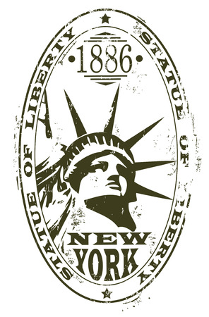 liberty statue: The vector image of STATUE OF LIBERTY