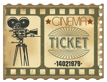 The vector image of Ticket in cinema 일러스트