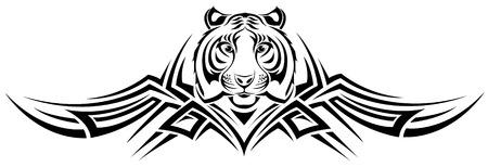 sentarse: El vector de imagen TIGER TRIBAL