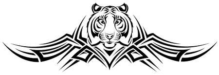 The vector image of TIGER TRIBAL