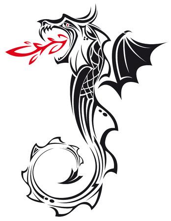dragon tribal: L'image de vecteur de TRIBAL DRAGON
