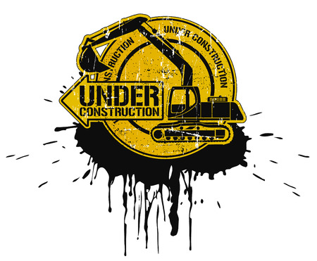 The vector image of  Under construction stamp Vector