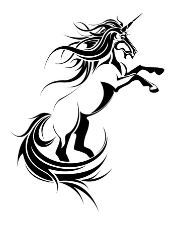 The vector image of  unicorn