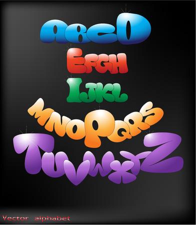 The vector image of Vector alphabet 일러스트