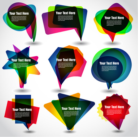 The vector image of  vector bubbles for speech 일러스트