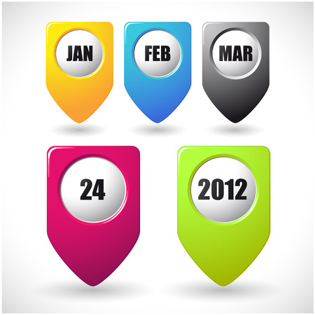 The vector image of  Vector calendar icon on white background 일러스트