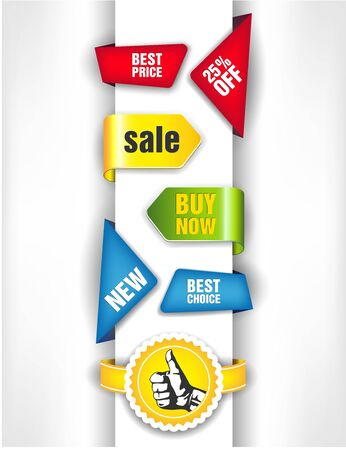 The vector image of Vector colourful stickers for speech 일러스트