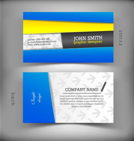 The vector image of Vector creative business card
