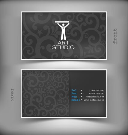 business card template: The vector image of Vector creative business card