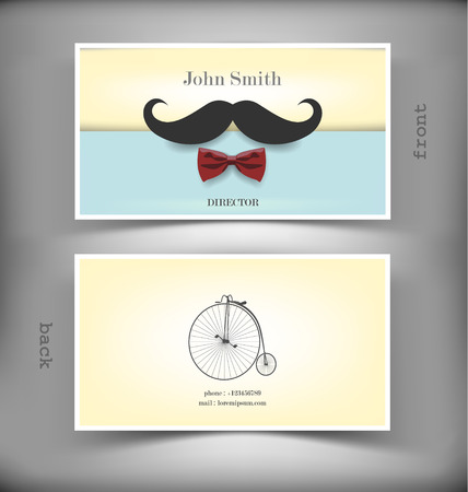 business card layout: The vector image of Vector creative business card