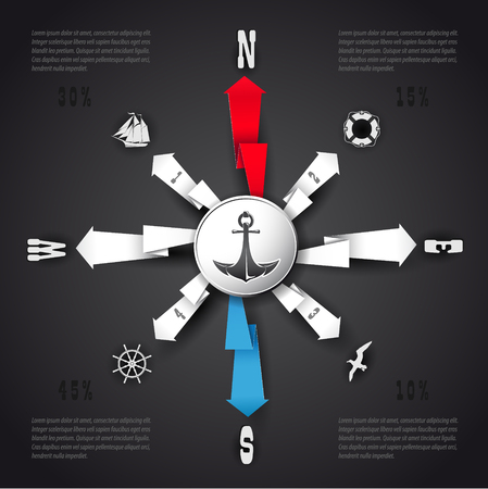 The vector image of Vector Infographic in form a 일러스트