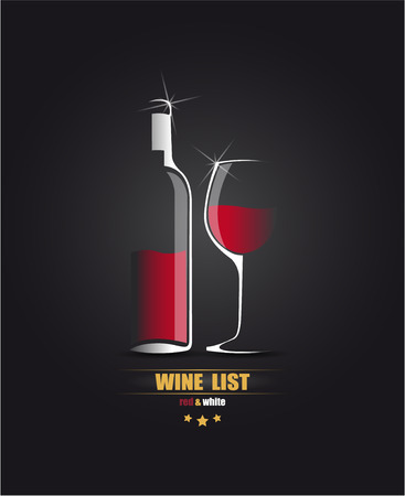 The vector image of Vector sketch for the wine