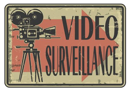 The vector image of Video surveillance