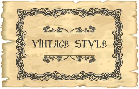 The vector image of Vintage Frame