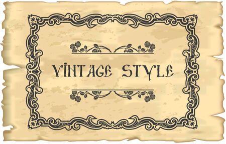 olden: The vector image of Vintage Frame