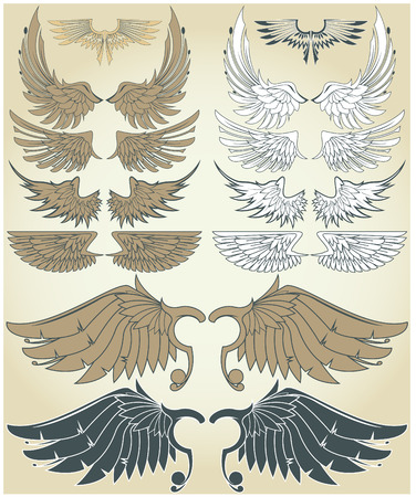 The vector image of Vintage Wings 일러스트