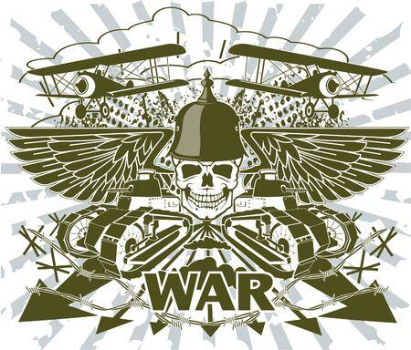 The vector image of  World war emblem