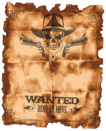 The vector image of  Wanted leaflet 일러스트