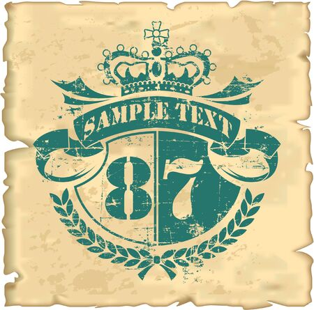 The vector image of Vintage Stamps