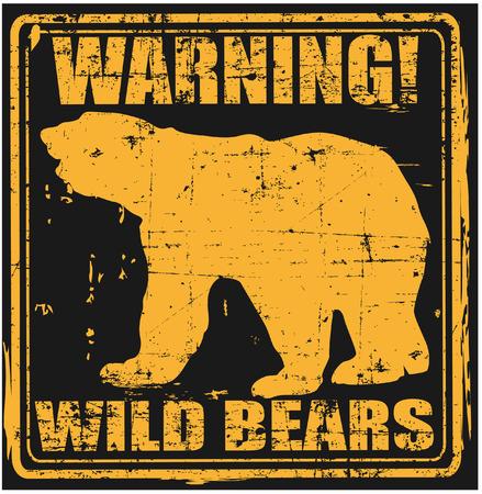 grizzly: L'image vectorielle des ours sauvages Illustration