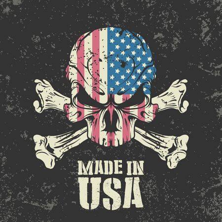 The vector image of Made in the USA stamp. Иллюстрация