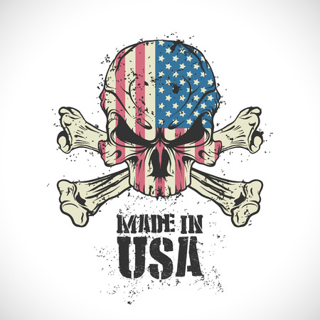 The vector image of Made in the USA stamp. 일러스트