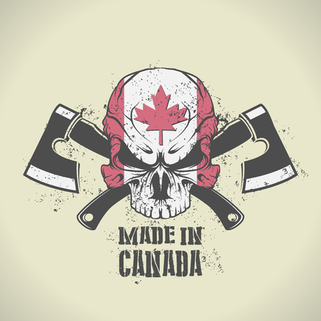 The vector image of Made in Canada stamp