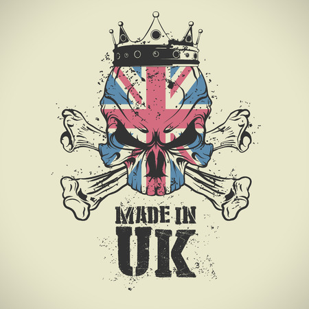 The vector image of Made in UK stamp.