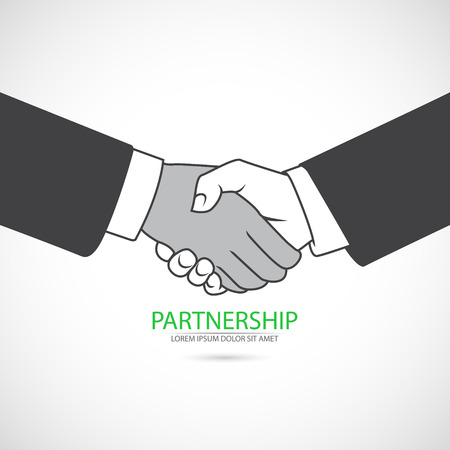 The vector image of Handshake icon. Partnership concept. 일러스트
