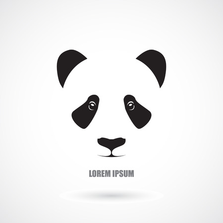 The image of Icon with head panda. Vector