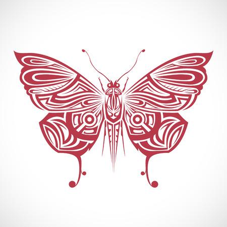 부족에서 무늬 나비의 이미지입니다. 스톡 콘텐츠 - 40910157