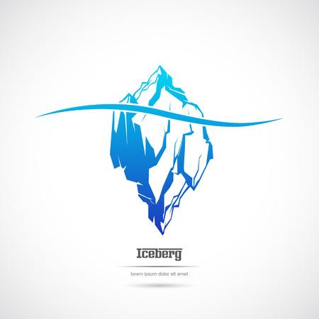 Obraz Góra lodowa na białym tle. Ikona.