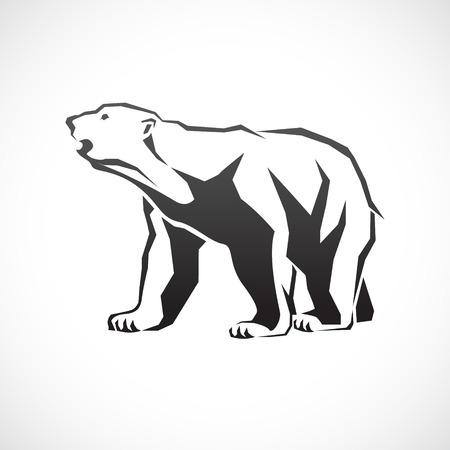 image of a polar bear. Illustration