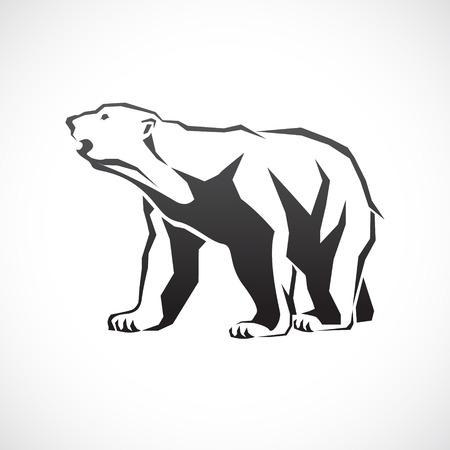 image of a polar bear. Illustration