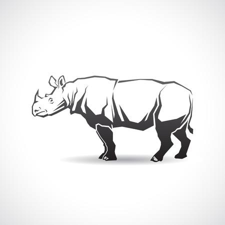 코뿔소의 이미지 아이콘입니다. 스톡 콘텐츠 - 47147929