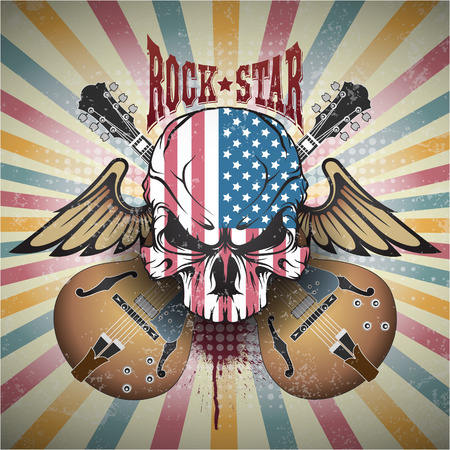 rock star: The image of Creative picture of a skull. Rock star
