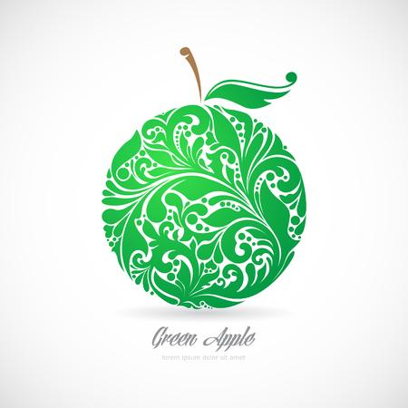아름 다운 패턴의 녹색 사과입니다. 스톡 콘텐츠 - 50500952