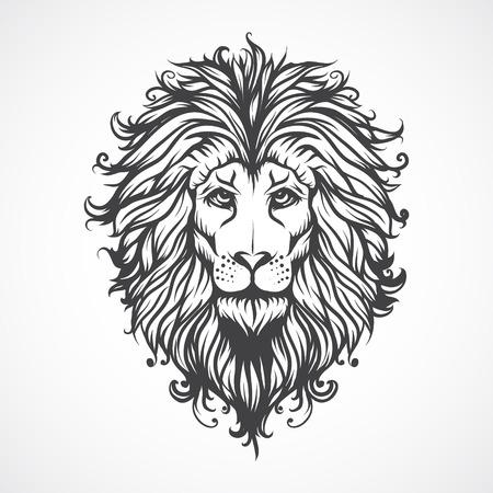 animal head: Lions Head. Illustration