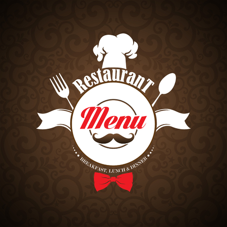Restaurant menu design. Vector illustration.