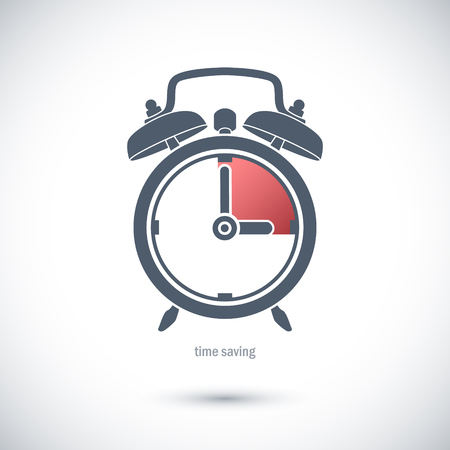 save time: Icon to save time. Illustration