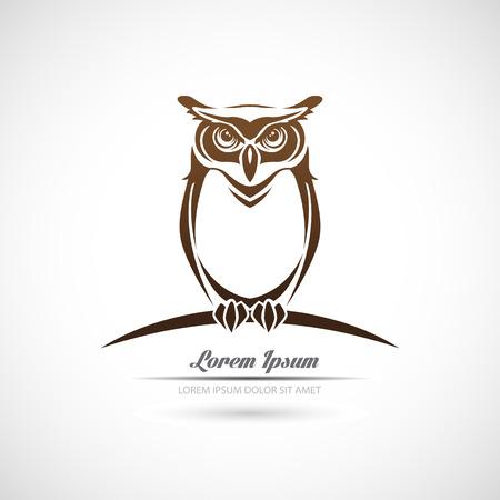 Icon owl on a white background.