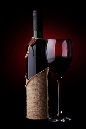 Wine Still Life on a dark background Stock Photo - 10361300