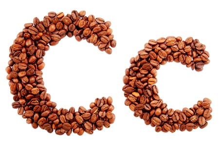 Coffee alphabet isolated on a white background Stock Photo - 10398751