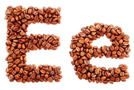 Coffee alphabet isolated on a white background Stock Photo - 10398754