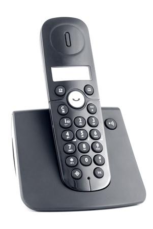 Black cordless isolated on a white background photo