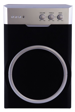 audio speakers isolated on a white background photo